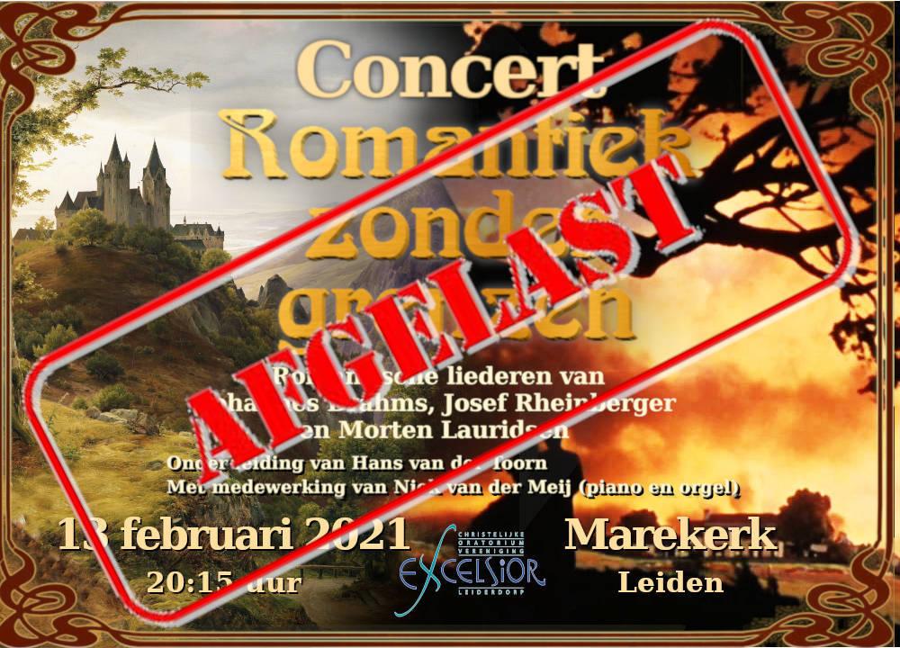 Concert Romantiek Zonder Grenzen >>> Geannuleerd